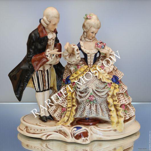 Винтажные предметы интерьера. Ярмарка Мастеров - ручная работа. Купить Кавалер с дамой пара Графенталь Германия 29. Handmade. Разноцветный