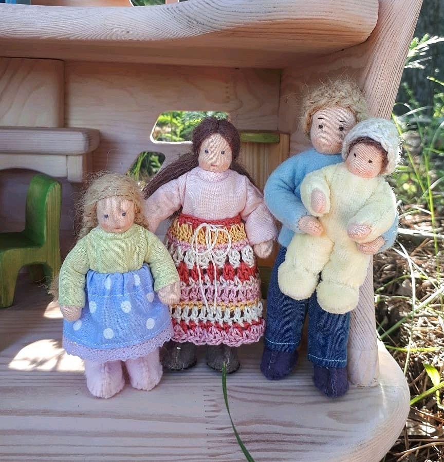 Каркасная кукольная семья, Вальдорфские куклы и звери, Казань,  Фото №1