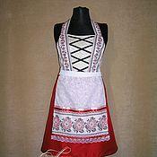 """Одежда ручной работы. Ярмарка Мастеров - ручная работа Фартук женский  """"Красная вышивка"""", вышиванка,дирндль,. Handmade."""