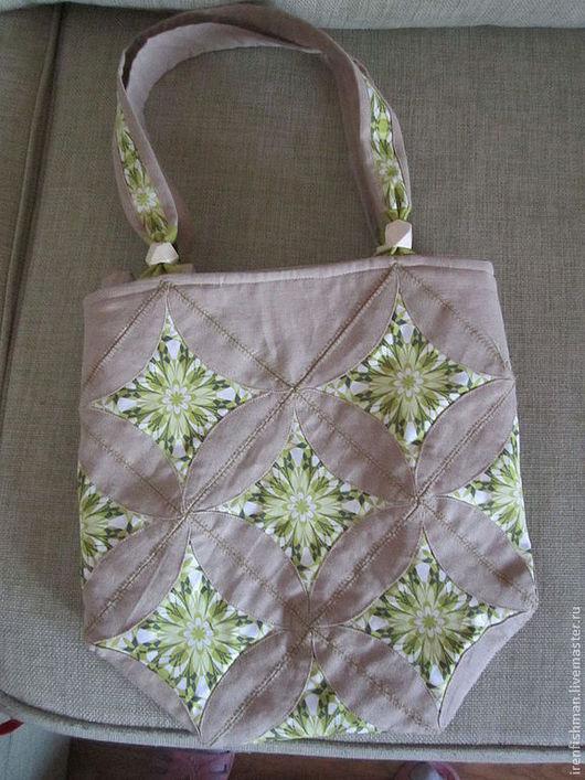 Женские сумки ручной работы. Ярмарка Мастеров - ручная работа. Купить Зеленые цветы. Handmade. Цветочный, американский хлопок
