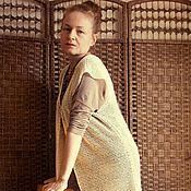 Одежда ручной работы. Ярмарка Мастеров - ручная работа Жилет цвета слоновой кости. Handmade.