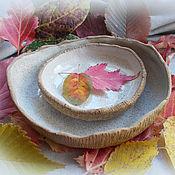 """Посуда ручной работы. Ярмарка Мастеров - ручная работа Набор из трёх тарелок """"Гнездо перепелки"""". Handmade."""