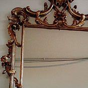 Винтаж handmade. Livemaster - original item Mirror in Baroque style. Italy. Handmade.