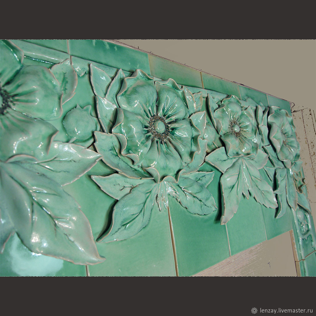 Panel on the fireplace ' snow-covered briar', Fireplaces, Moscow,  Фото №1