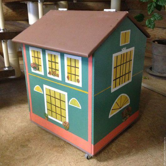 """Детская ручной работы. Ярмарка Мастеров - ручная работа. Купить дом для игрушек """"Рига"""". Handmade. Комбинированный, роспись акрилом, интерьер"""