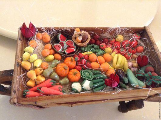 Миниатюра ручной работы. Ярмарка Мастеров - ручная работа. Купить Овощи и фрукты из полимерной глины. Handmade. Фрукты, полимерная глина
