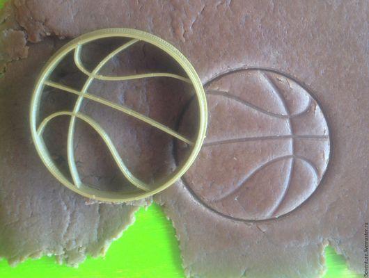 Кухня ручной работы. Ярмарка Мастеров - ручная работа. Купить Форма для пряников и печенья Баскетбольный мяч. Handmade. Разноцветный