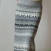 Одежда ручной работы. Ярмарка Мастеров - ручная работа юбка вязаная из Кауни. Handmade.