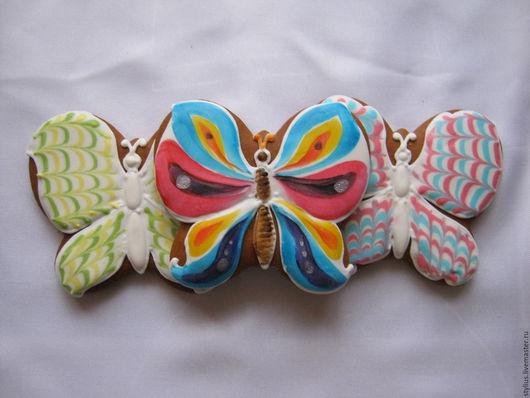 Персональные подарки ручной работы. Ярмарка Мастеров - ручная работа. Купить Пряничные бабочки. Handmade. Комбинированный, подарок на день рождения