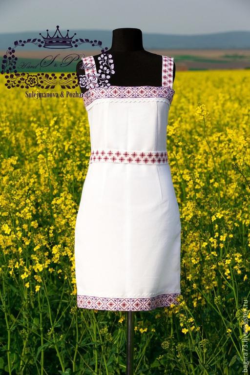"""Платья ручной работы. Ярмарка Мастеров - ручная работа. Купить """"Кристина"""". Handmade. Белый, платье для девочки, вышивка на заказ"""