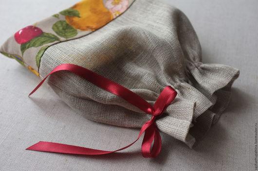 """Кухня ручной работы. Ярмарка Мастеров - ручная работа. Купить Мешочек текстильный """"Осенний урожай"""". Handmade. Комбинированный, мешочек для подарка"""