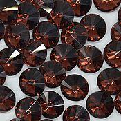 Кабошоны ручной работы. Ярмарка Мастеров - ручная работа Риволи 10 мм бордо. Handmade.