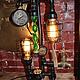 Освещение ручной работы. Ярмарка Мастеров - ручная работа. Купить Светильник настольный в стиле Стимпанк, Лофт. Handmade. Черный, loft