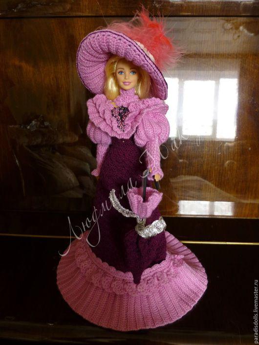 """Одежда для кукол ручной работы. Ярмарка Мастеров - ручная работа. Купить Наряд для куклы Барби """"Прогулка на бульваре"""". Handmade. Фиолетовый"""