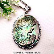 Pendants handmade. Livemaster - original item Cameo pendant - 925 sterling silver. Handmade.