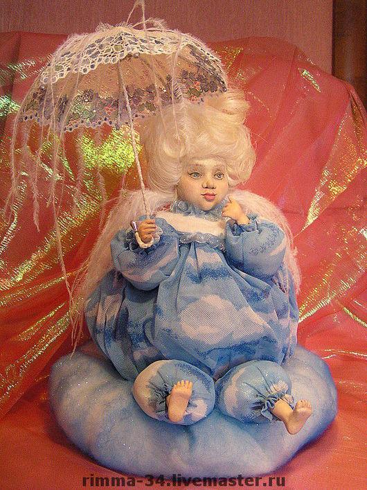 Коллекционные куклы ручной работы. Ярмарка Мастеров - ручная работа. Купить Небесное облачко. Handmade. Коллекционные куклы, волосы натуральные
