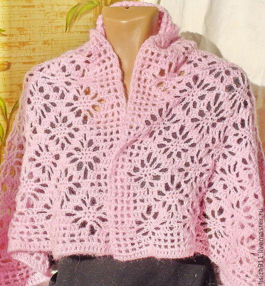 """Шали, палантины ручной работы. Ярмарка Мастеров - ручная работа. Купить Палантин """"Розовый вечер"""". Handmade. Бледно-розовый, палантин"""