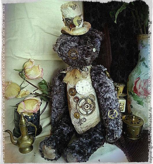 Мишки Тедди ручной работы. Ярмарка Мастеров - ручная работа. Купить Мишка Патрик. Handmade. Темно-серый, классический стиль