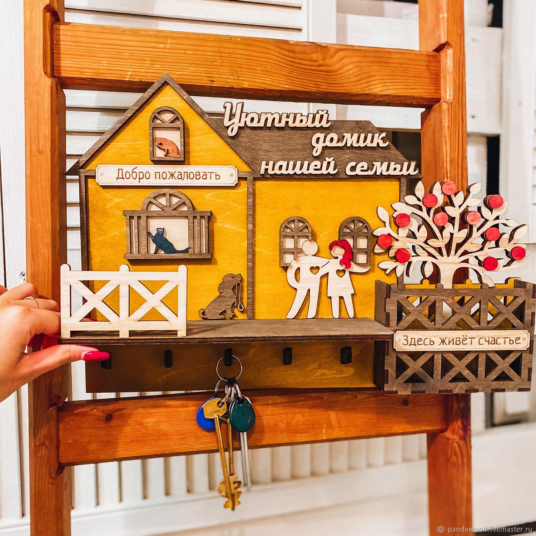 Ключница домик, Ключницы настенные, Санкт-Петербург,  Фото №1