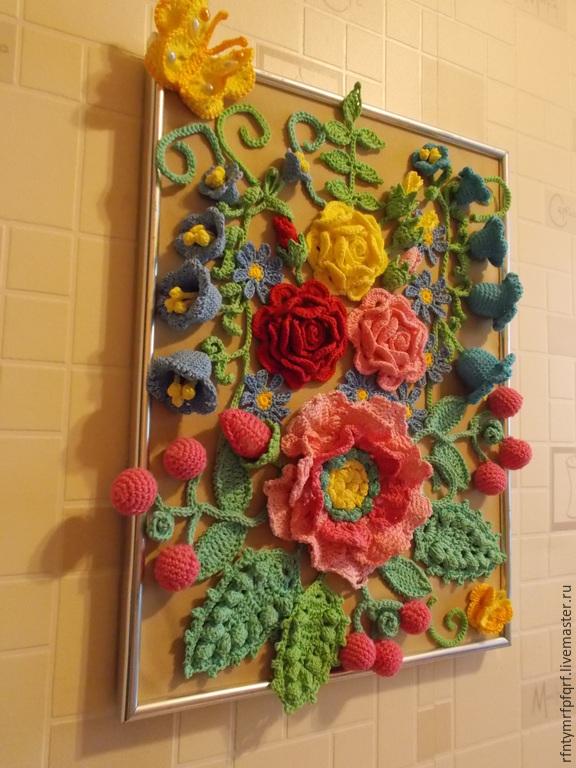 Вязание картин из цветов 132