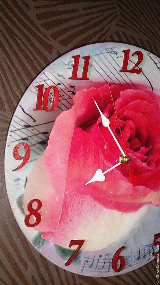 """Часы для дома ручной работы. Ярмарка Мастеров - ручная работа. Купить Часы настенные """"Роза"""". Handmade. Комбинированный, часы в подарок"""
