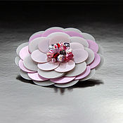Украшения handmade. Livemaster - original item Flower brooch in the style of Chanel pink. Handmade.