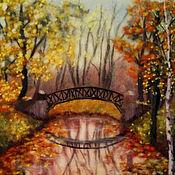 """Картины и панно ручной работы. Ярмарка Мастеров - ручная работа Картина шерстью"""" Осень в парке"""". Handmade."""