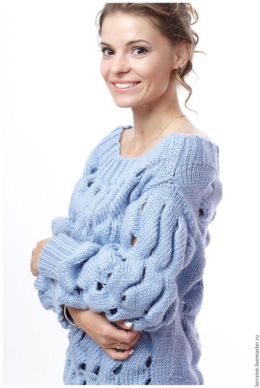 вязаный свитер, свитер вязаный, вязаный снуд, снуд вязаный, вязаный комплект, комплект вязаный, шерстяной свитер, свитер шерстяной, свитер из шерсти, женский свитер, свитер женский, объемный узор