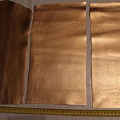 Материалы для творчества ручной работы. Ярмарка Мастеров - ручная работа кожа в кусках (розовое золото). Handmade.