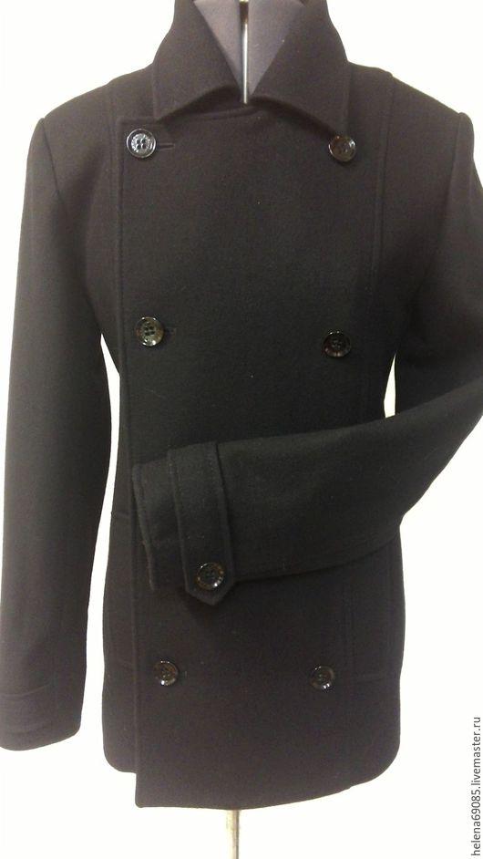 Верхняя одежда ручной работы. Ярмарка Мастеров - ручная работа. Купить Пальто мужское(укороченное). Handmade. Черный, пальто модное, пуговицы