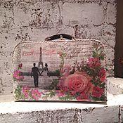 """Свадебный салон ручной работы. Ярмарка Мастеров - ручная работа """"Paris"""" свадебный чемоданчик. Handmade."""