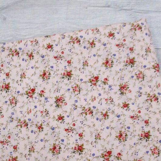 Шитье ручной работы. Ярмарка Мастеров - ручная работа. Купить Ткань хлопок  цветы розовая. Сатин. 100% Хлопок. Handmade.