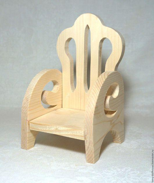 Кукольный дом ручной работы. Ярмарка Мастеров - ручная работа. Купить Кресло для куклы (1). Handmade. Комбинированный, кукольное кресло