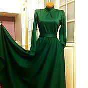 Одежда ручной работы. Ярмарка Мастеров - ручная работа Трикотажное платье макси Изумруд 2. Handmade.