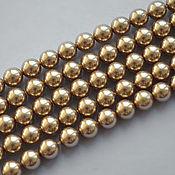 Материалы для творчества handmade. Livemaster - original item Swarovski pearls 6mm Bright gold. Handmade.