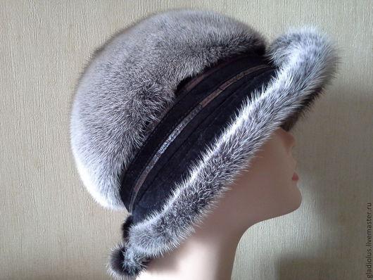 Шляпы ручной работы. Ярмарка Мастеров - ручная работа. Купить Шляпа из норки.. Handmade. Серый, шляпа цвета деграде