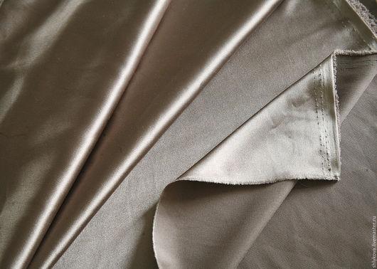 Шитье ручной работы. Ярмарка Мастеров - ручная работа. Купить Атлас.. Handmade. Коричневый, ткань, ткани, ткань для шитья