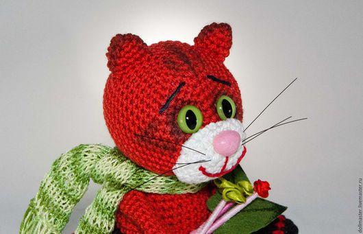 Новый год 2017 ручной работы. Ярмарка Мастеров - ручная работа. Купить Рыжая кошка Жанетт. Handmade. Рыжий, дизайнерская игрушка