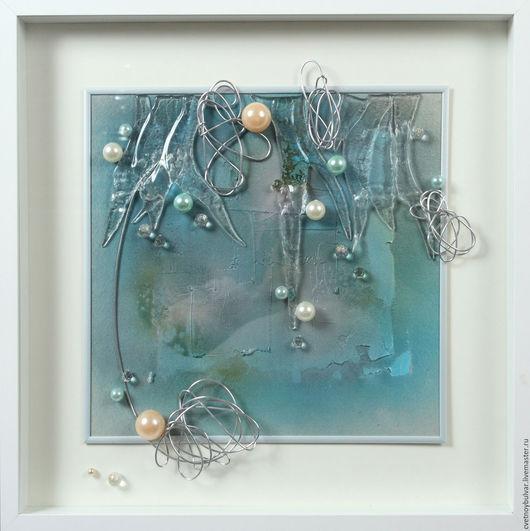 Абстракция ручной работы. Ярмарка Мастеров - ручная работа. Купить Царство Нептуна. Handmade. Голубой цвет, современный стиль