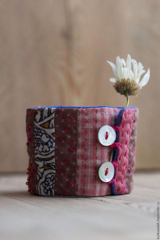 Браслеты ручной работы. Ярмарка Мастеров - ручная работа. Купить Браслет текстильный Лоскутный. Handmade. Комбинированный, этно стиль