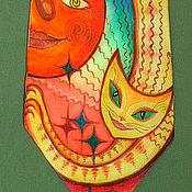 """Аксессуары ручной работы. Ярмарка Мастеров - ручная работа Галстук """"Ванильная кошка"""". Handmade."""
