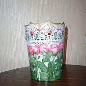 """Для дома и интерьера ручной работы. Ярмарка Мастеров - ручная работа Кашпо-ваза """"Ажурное"""". Handmade."""