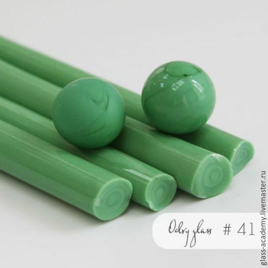 Для украшений ручной работы. Ярмарка Мастеров - ручная работа. Купить стекло #41 - Green pea (Горошек)  для lampwork Odry glass coe 104. Handmade.
