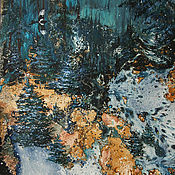 Картины и панно ручной работы. Ярмарка Мастеров - ручная работа Картина А снег идёт.... Handmade.