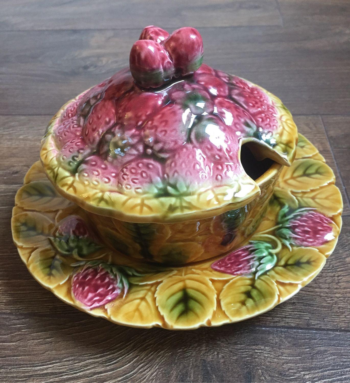 Jam jar sarreguemines, Vintage kitchen utensils, Kaliningrad,  Фото №1