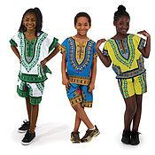 Одежда ручной работы. Ярмарка Мастеров - ручная работа Африканская рубашка детская Dashiki. Handmade.