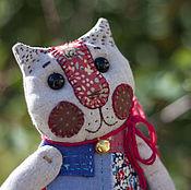 Куклы и игрушки ручной работы. Ярмарка Мастеров - ручная работа Кукла текстильная Кошечка Маришка. Handmade.