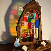 """Для дома и интерьера ручной работы. Ярмарка Мастеров - ручная работа Композиция """"Кошкин дом"""". Handmade."""