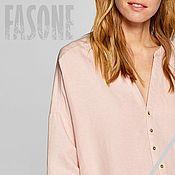 Одежда handmade. Livemaster - original item Women`s blouse pink linen Pink women`s blouse. Handmade.