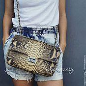 Сумки и аксессуары handmade. Livemaster - original item Handbag with chain genuine leather Python. Handmade.